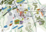 Nieuwe kaart van Branbant stad